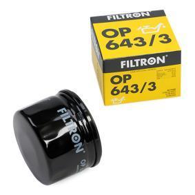 Купете OP 643/3 FILTRON навиващ филтър, с един възвратен клапан вътрешен диаметър 2: 69,5мм, вътрешен диаметър 2: 61,5мм, Ø: 76,5мм, височина: 54,5мм Маслен филтър OP 643/3 евтино
