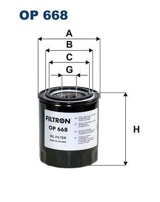 FILTRON Oliefilter til SCANIA - vare number: OP 668