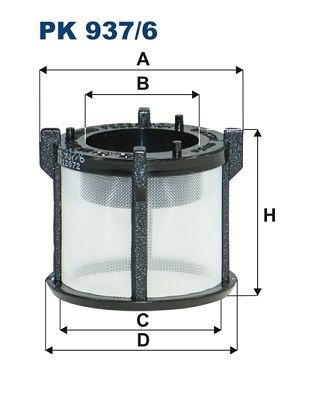 PK 937/6 FILTRON Filtereinsatz Höhe: 41mm Kraftstofffilter PK 937/6 günstig kaufen