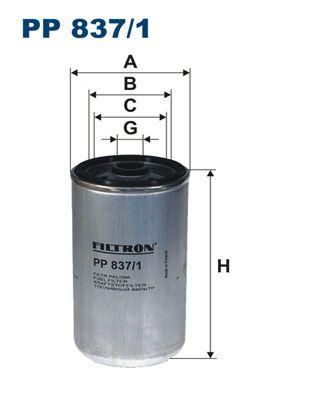 PP 837/1 FILTRON Kraftstofffilter für MAN E 2000 jetzt kaufen