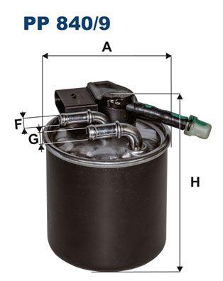 PP 840/9 Filtro de combustível FILTRON originais de qualidade