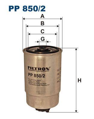 Skoda SUPERB FILTRON Palivový filtr PP 850/2