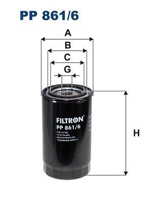 PP 861/6 FILTRON Kraftstofffilter für DAF CF 65 jetzt kaufen