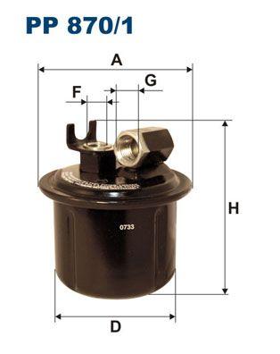 Original ROVER Kraftstofffilter PP 870/1