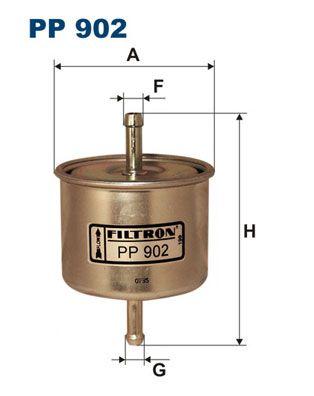 Achetez Filtre à carburant FILTRON PP 902 (Hauteur: 120,5mm) à un rapport qualité-prix exceptionnel