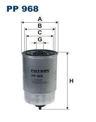 Achetez Filtre à carburant FILTRON PP 968 (Hauteur: 155mm) à un rapport qualité-prix exceptionnel