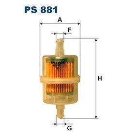 PS 881 FILTRON Filtr przewodowy Wys.: 94[mm] Filtr paliwa PS 881 kupić niedrogo