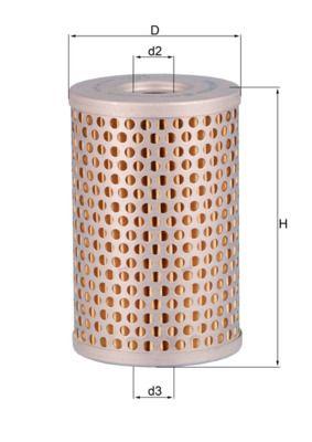Filtro idraulico sterzo HX 34 MAHLE ORIGINAL — Solo ricambi nuovi