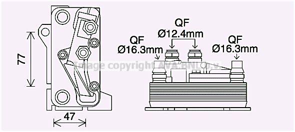 Automatikgetriebe Ölkühler Mercedes C205 2019 - PRASCO MS3714 ()