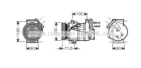 RTAK393 PRASCO Kältemittel: R 134a Riemenscheiben-Ø: 120mm Klimakompressor RTAK393 günstig kaufen