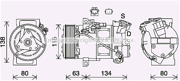 OE Original Kompressor Klimaanlage RTAK640 PRASCO