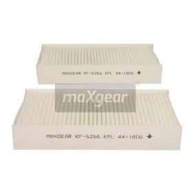 KF6266KPL MAXGEAR Pollenfilter Breite: 193mm, Höhe: 32mm, Länge: 226mm Filter, Innenraumluft 26-1191 günstig kaufen