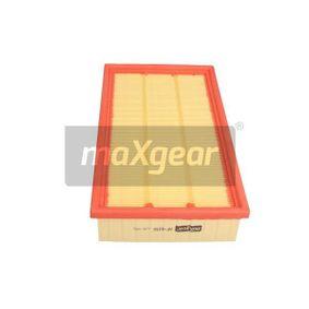 AF8350 MAXGEAR Filtereinsatz Länge: 294mm, Breite: 171mm, Höhe: 50mm Luftfilter 26-1396 günstig kaufen