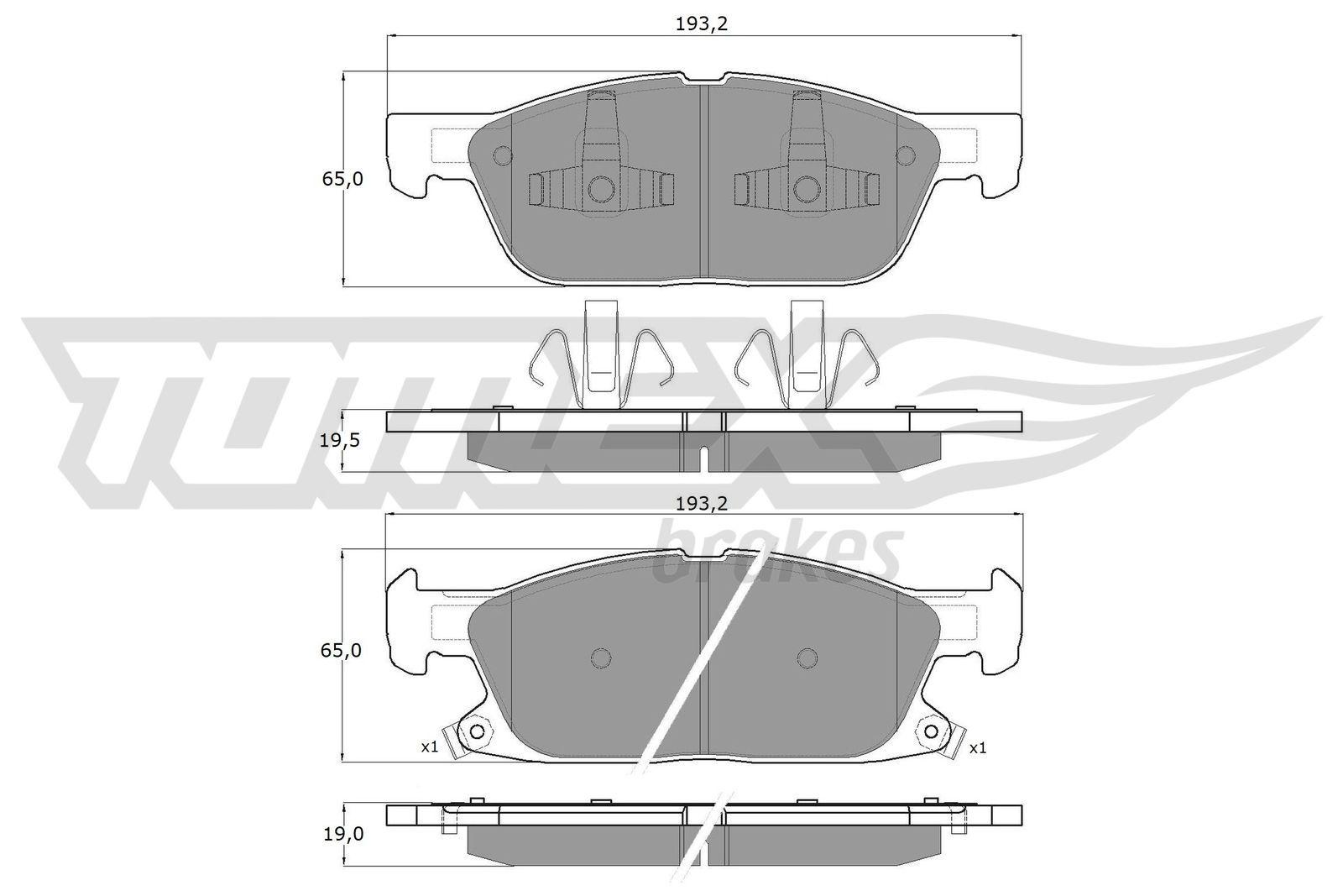 Original FORD USA Bremsklötze TX 18-39