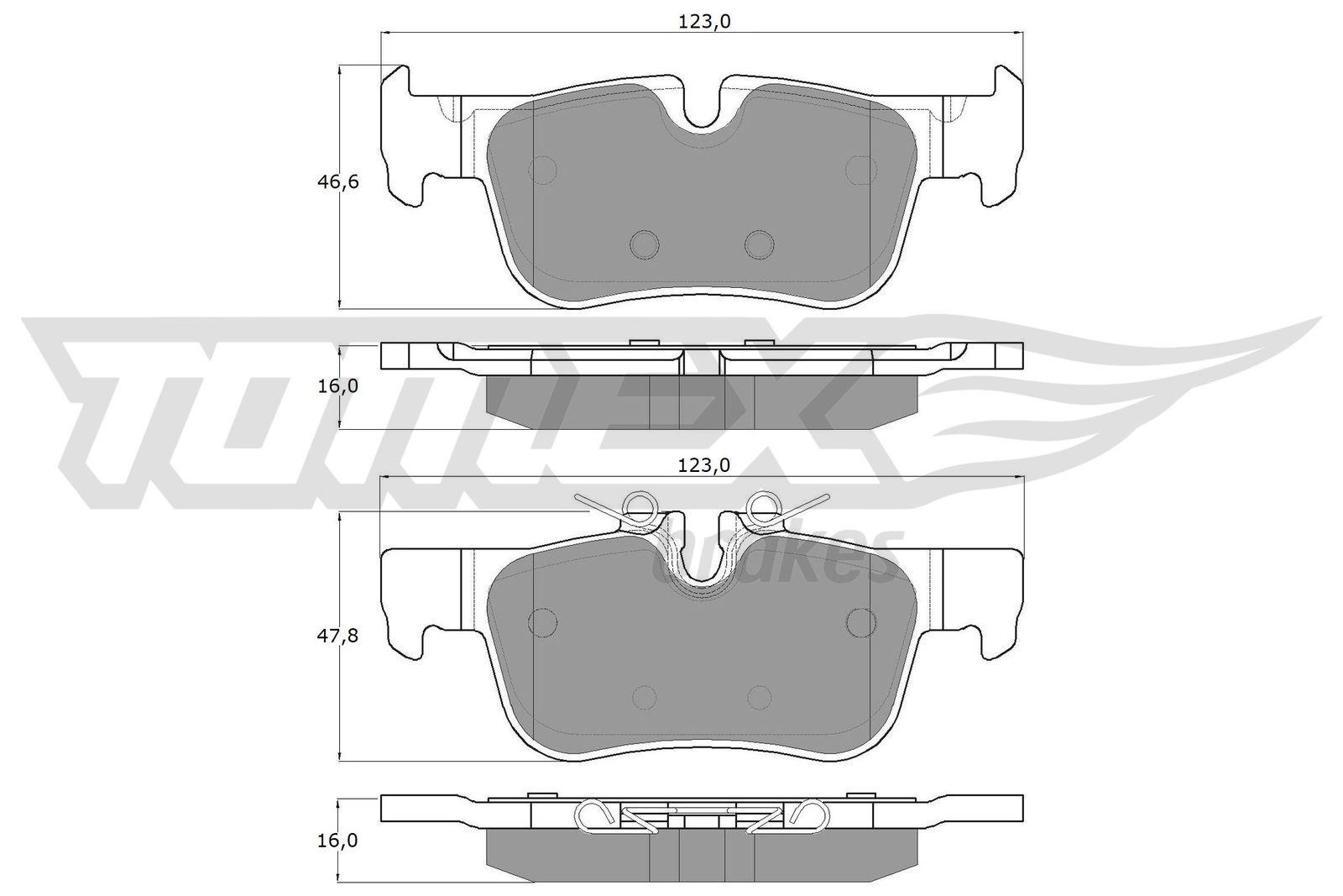 Original MINI Bremsbelagsatz TX 18-44
