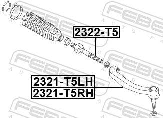 FEBEST   Spurstangenkopf 2321-T5LH