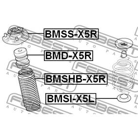 BMSHBX5R Schutzkappe / Faltenbalg, Stoßdämpfer FEBEST BMSHB-X5R - Große Auswahl - stark reduziert