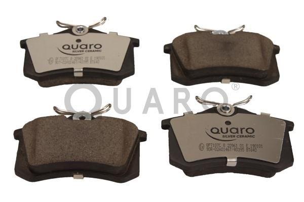QP7107C QUARO nicht für Verschleißwarnanzeiger vorbereitet Höhe: 53mm, Breite: 87mm, Dicke/Stärke: 15,2mm Bremsbelagsatz, Scheibenbremse QP7107C günstig kaufen