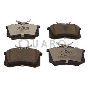 QP7107C QUARO nicht für Verschleißwarnanzeiger vorbereitet, mit Bremssattelschrauben Höhe: 53mm, Breite: 87mm, Dicke/Stärke: 15,2mm Bremsbelagsatz, Scheibenbremse QP7107C günstig kaufen