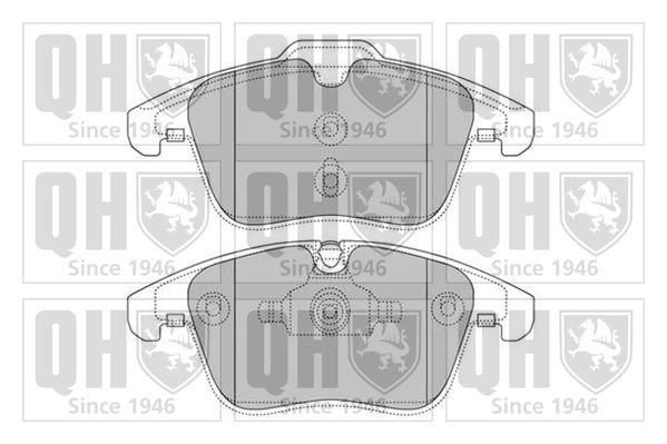 QUINTON HAZELL Bremsbelagsatz, Scheibenbremse BP1629