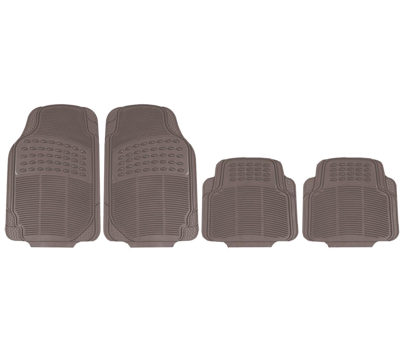 731150 HEYNER Universeel geschikt, ProtectionStar Pro Rubber, voor en achter, Aantal: 4, Beige Grootte: 43x45 cm, 71x47.5 cm Vloermatset 731150
