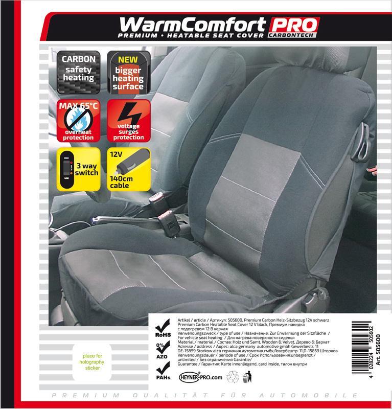 505600 HEYNER WarmComfort Carbon 12V, 3A Sitzheizungsauflage 505600 günstig kaufen
