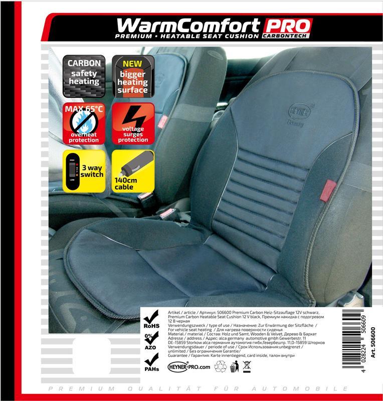 506600 HEYNER WarmComfort Carbon 12V, 3A Sitzheizungsauflage 506600 günstig kaufen