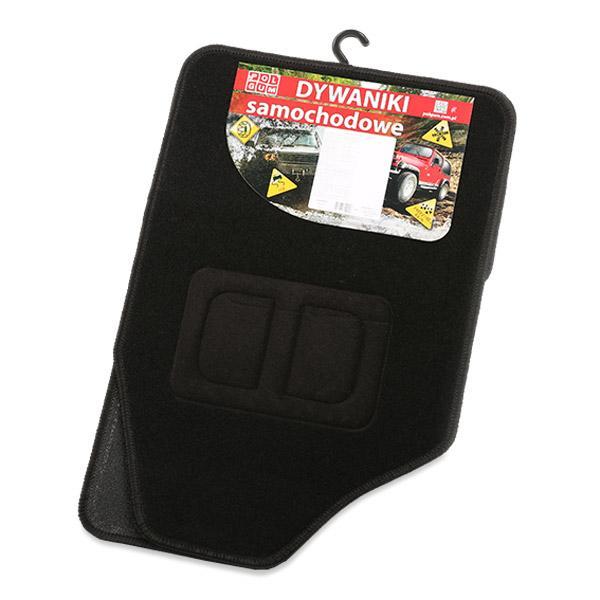 9901-1 POLGUM Universelle passform Textil, vorne und hinten, Menge: 4, schwarz Größe: 69x48, Größe: 32.5x48 Autofußmatten 9901-1 günstig kaufen