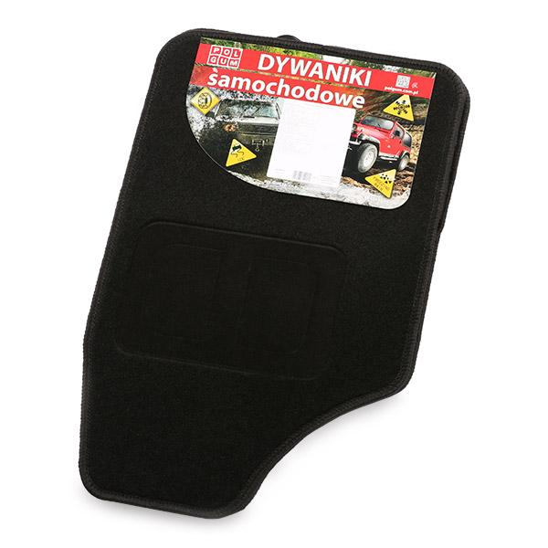 9901-2 POLGUM Universeel geschikt Textiel, voor en achter, Aantal: 4, Zwart Grootte: 32.5x48, 69x48 Vloermatset 9901-2