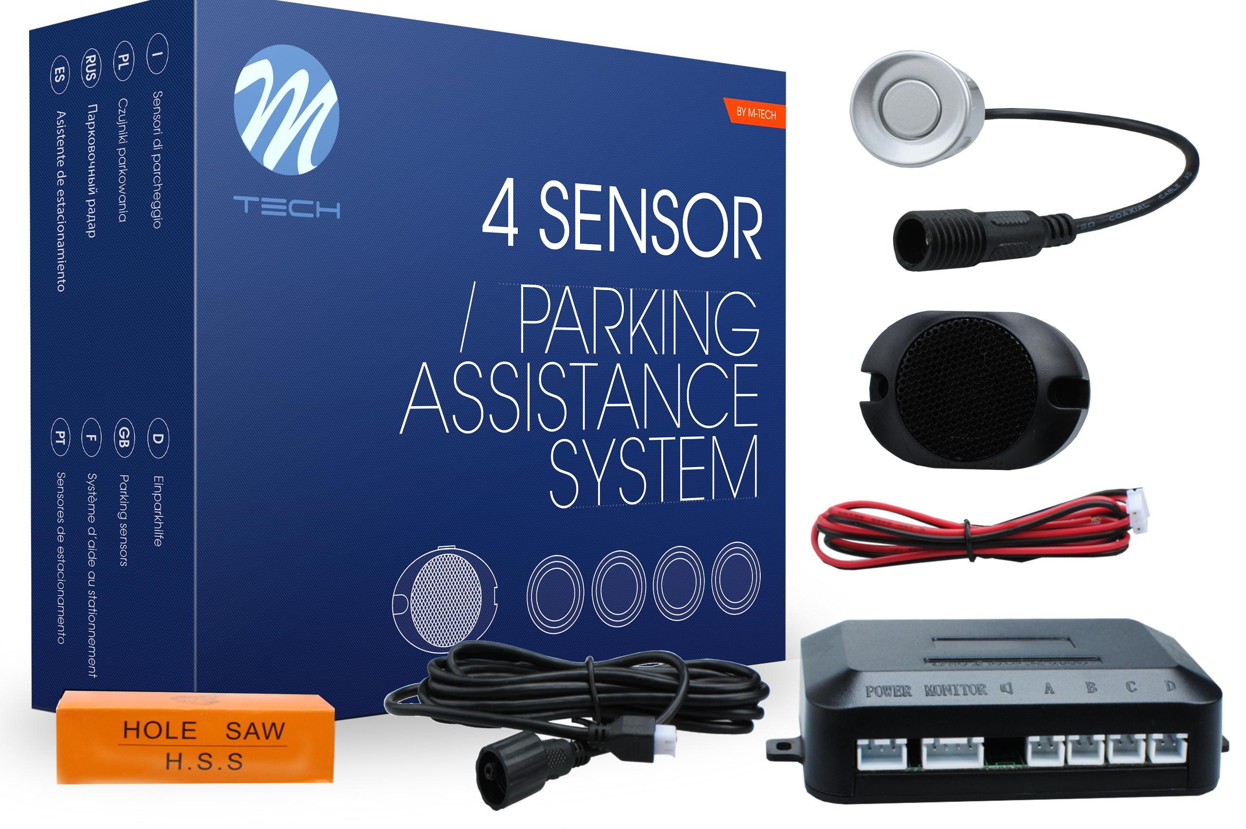 CP6S M-TECH hinten, mit Montageanleitung, mit Sensor, Anzahl der Sensoren: 4 Einparkhilfe CP6S günstig kaufen