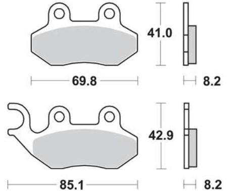 VICMA Zestaw klocków hamulcowych, hamulce tarczowe P10746 SYM