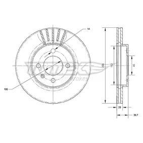 7018 TOMEX brakes Vorderachse, belüftet, lackiert Ø: 256mm, Lochanzahl: 4, Bremsscheibendicke: 20mm Bremsscheibe TX 70-18 günstig kaufen