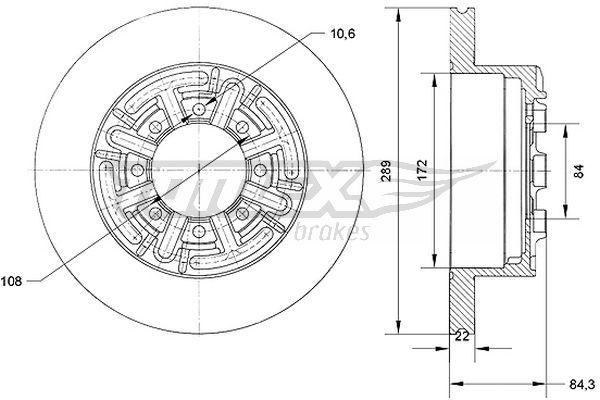 Set dischi freni TX 70-48 TOMEX brakes — Solo ricambi nuovi