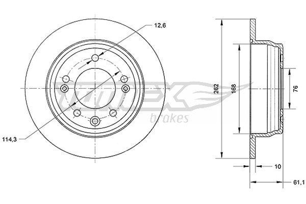 Kit dischi freno TX 70-51 TOMEX brakes — Solo ricambi nuovi