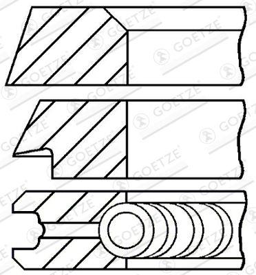08-399100-00 GOETZE ENGINE Piston Ring Kit: buy inexpensively