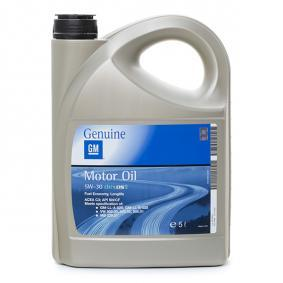 19 42 003 OPEL GM DEXOS2™, SUPER SYNTHETIC 5W-30, 5l, Syntetický olej Motorový olej 19 42 003 kupte si levně