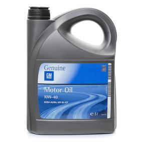 19 42 046 OPEL GM 10W-40, 5l, Teilsynthetiköl Motoröl 19 42 046 günstig kaufen