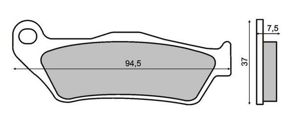 Zestaw klocków hamulcowych, hamulce tarczowe 22 510 0430 w niskiej cenie — kupić teraz!