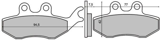 Bremsbelagsatz Scheibenbremse RMS 22 510 0560