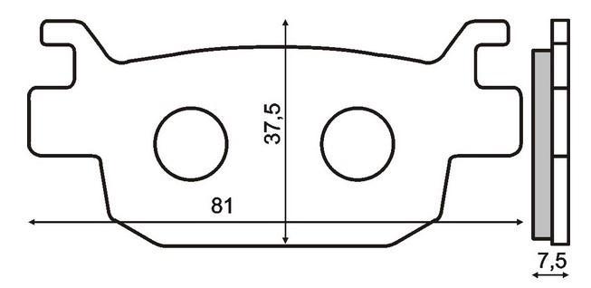 Bremsbeläge RMS 22 510 2560