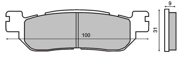 Bremssteine RMS 22 510 2660