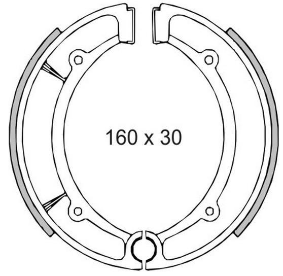 Moto RMS Bremsbelag, Trommelbremse 22 512 0460 günstig kaufen