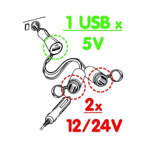 LAMPA | KFZ-Ladekabel für Handys 38966