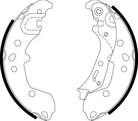 SEAT ARONA Bremsbacken - Original HELLA 8DB 355 022-881 Breite: 38,2mm