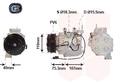Original HONDA Klimakompressor 2500K700