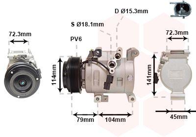 OE Original Kompressor Klimaanlage 2701K702 VAN WEZEL