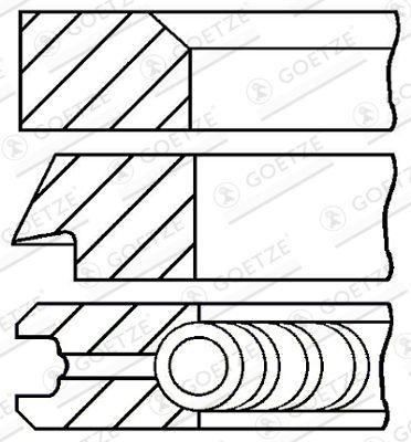 GOETZE ENGINE: Original Kolbenringsatz 08-427700-00 ()