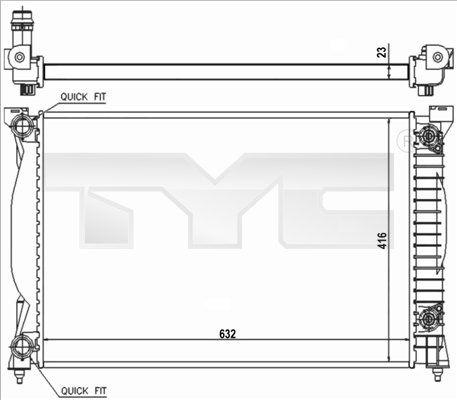 OE Original Wasserkühler 702-0014-R TYC