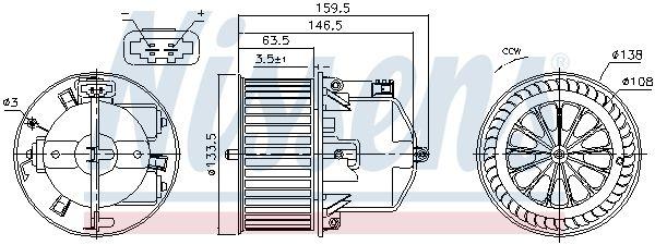 87761 Innenraumgebläse NISSENS in Original Qualität