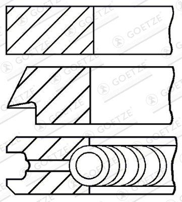 Buy Piston ring kit GOETZE ENGINE 08-502900-00